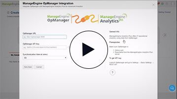 Integrer Analytics Plus avec OpManager et Applications Manager